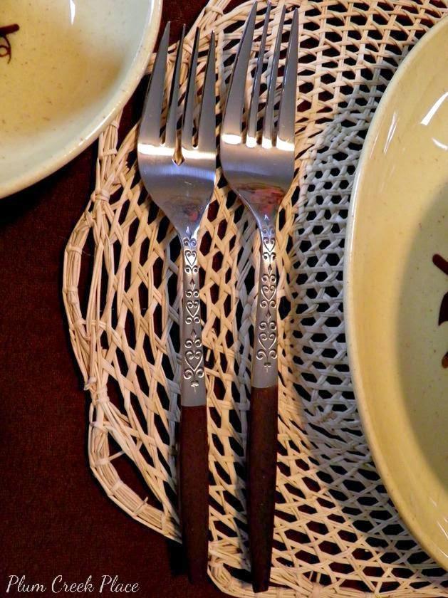 Vintage Fall Tablescape - Interpur INR2 flatware