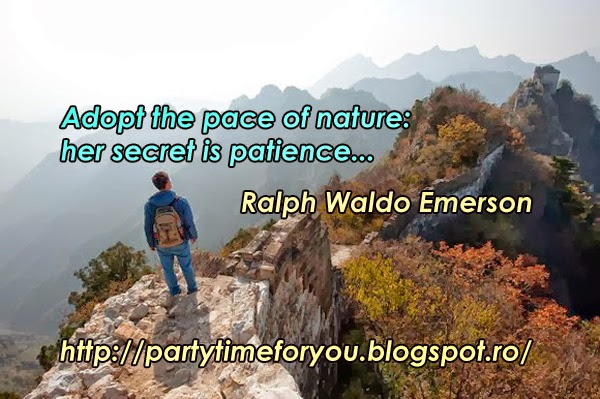 Adopt the pace of nature her secret is patience...