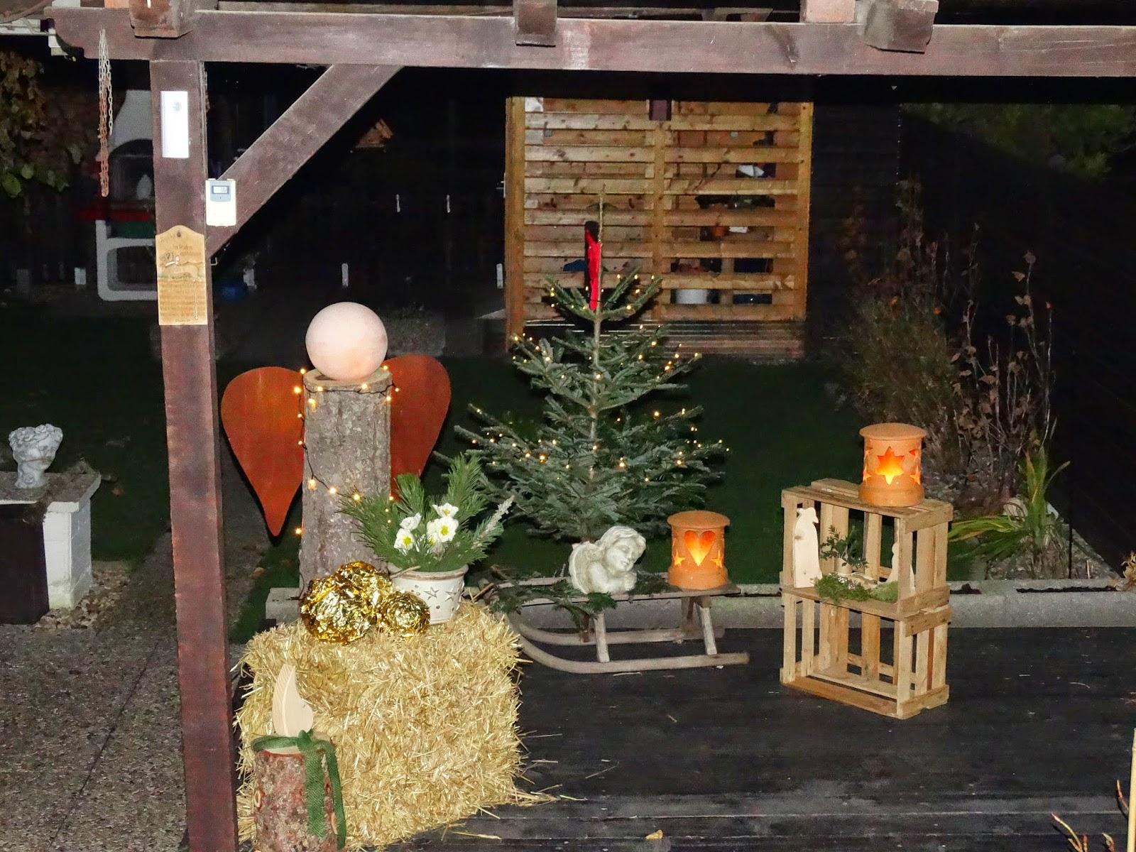 Annies bunte seite weihnachtsdeko und kein ende for Weihnachtsdeko terrasse
