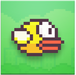Flappy Bird Pixelated Logo