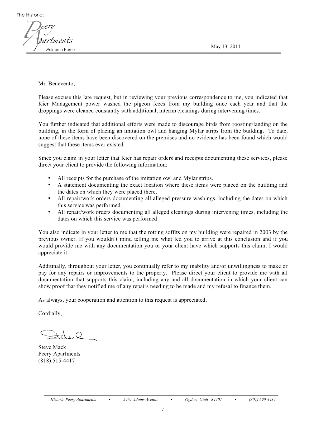 Request letter items – Purchase Request Letter