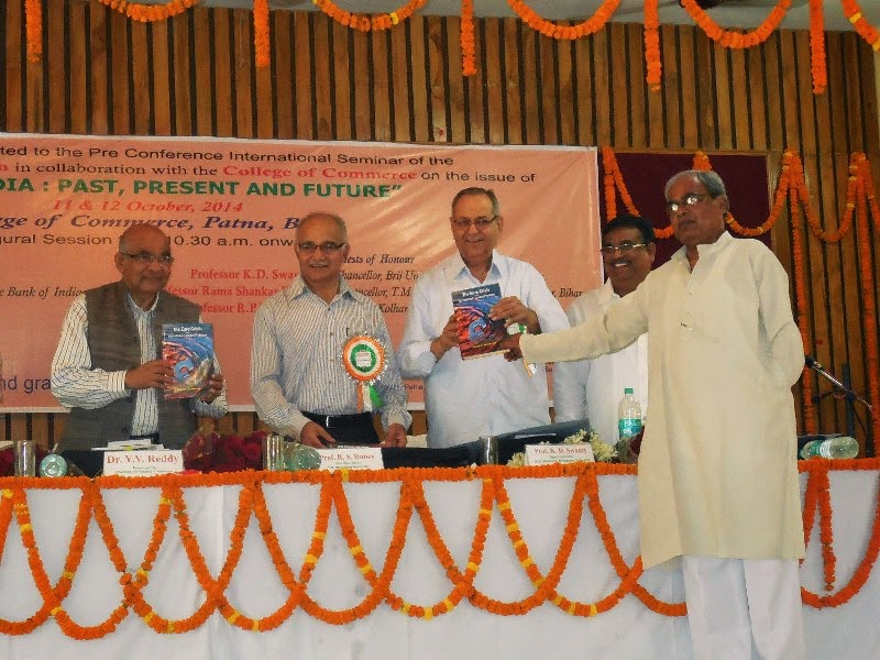 Dr.Y.V.Reddy releasing my book