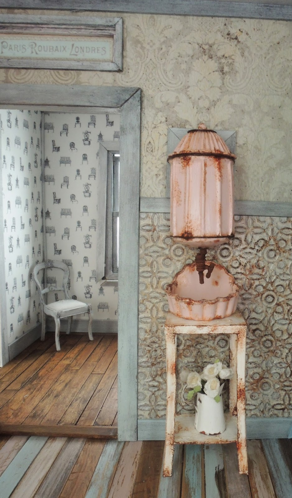 Liberty biberty a vintage lavabo for the farmhouse bathroom - Lavabo colonne retro ...