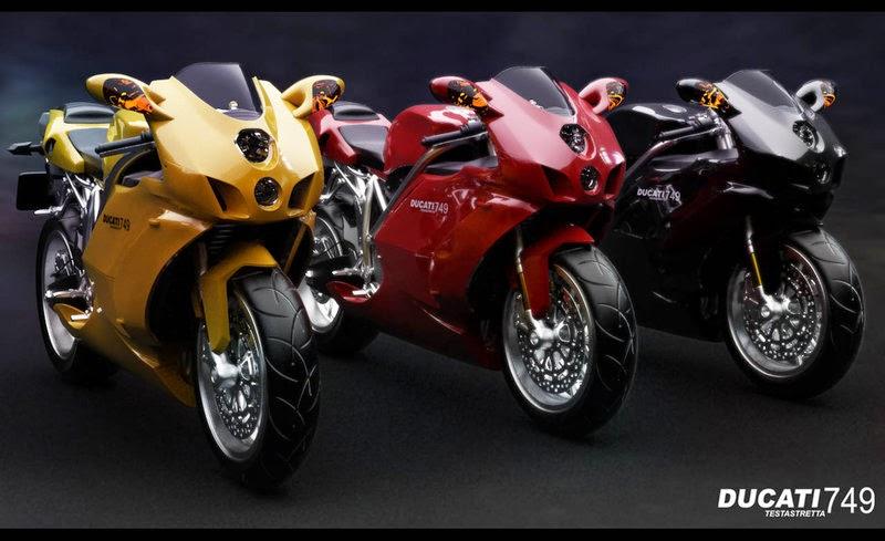 Ducati Superbike 999 Three Bike Models