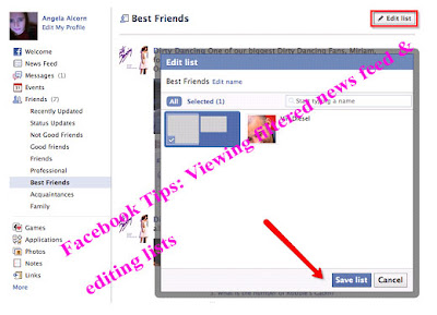 Facebook Tips: Viewing filtered news feed & editing lists,Using friends lists to manage chat privacy
