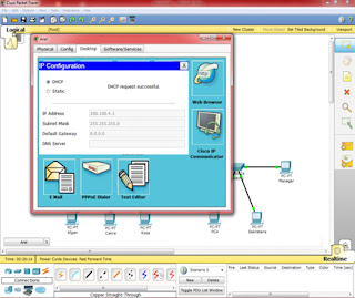 ScreenShoot. Settings IP Configuration Menjadi DHCP