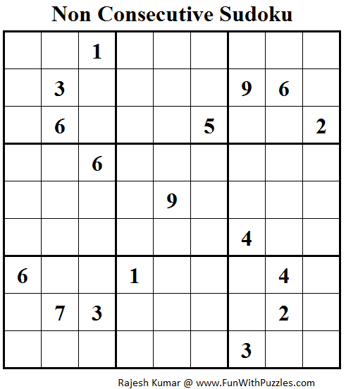 Non Consecutive Sudoku (Daily Sudoku League #104)