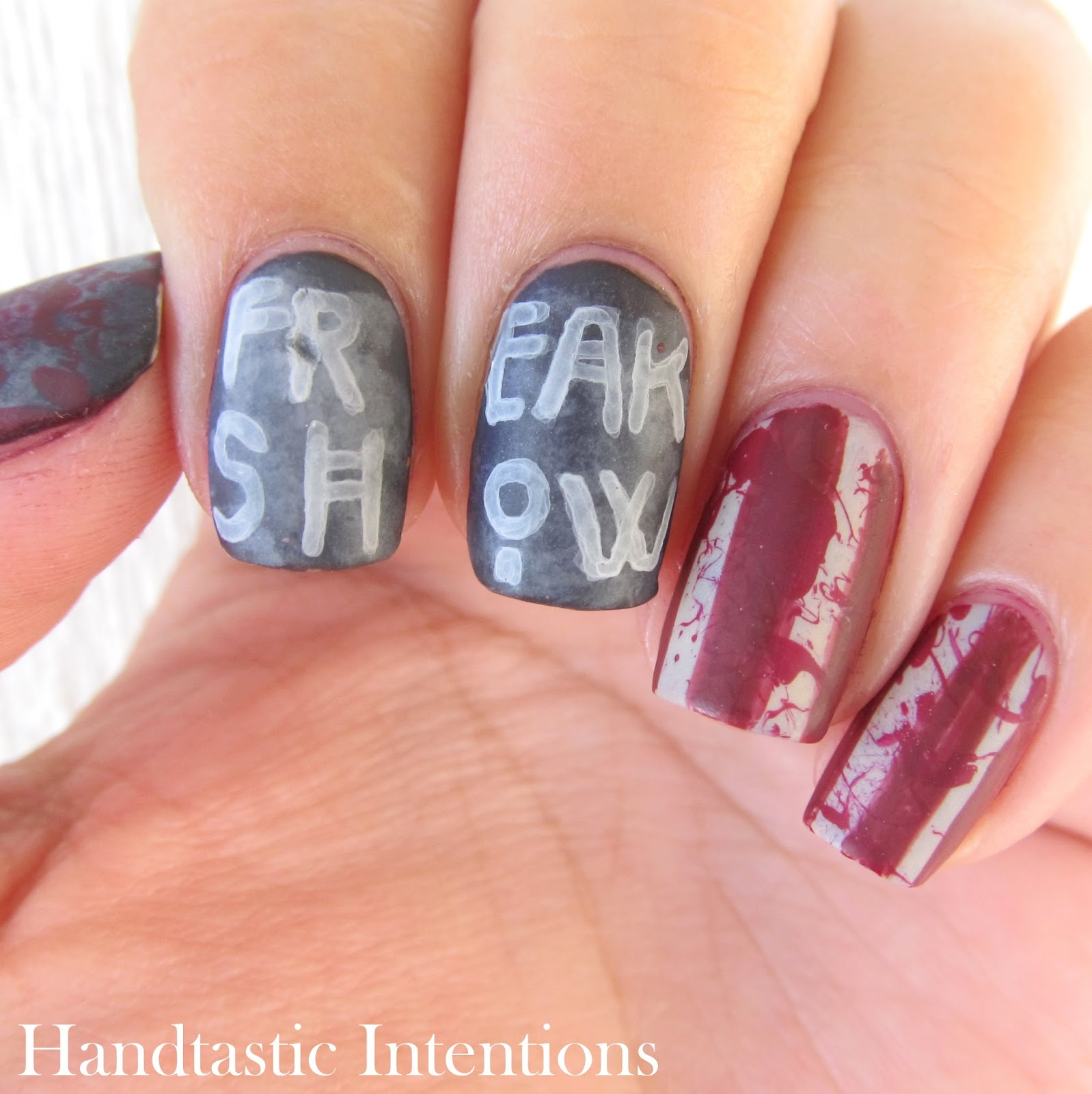 Handtastic Intentions American Horror Story Freak Show Nail Art