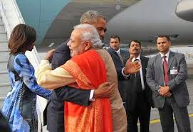 Narendra Modi also Hugged Barack Obama