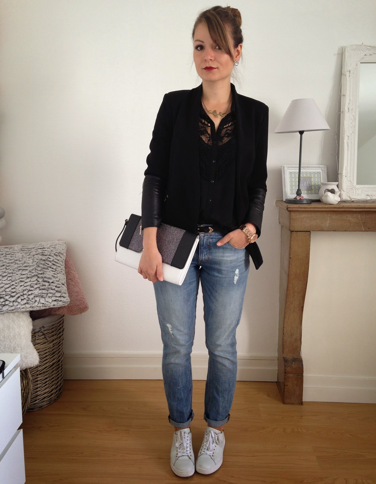 Confortable boyfriend pauline dress blog mode lifestyle et d co besan on - Tenue chic et decontractee ...