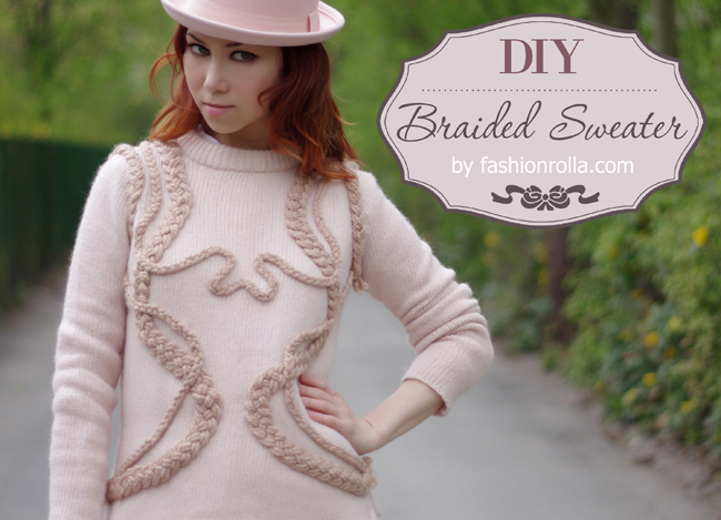 DIY Braided Sweater designed by Xenia Kuhn for lifestyle blog fashionrolla.com