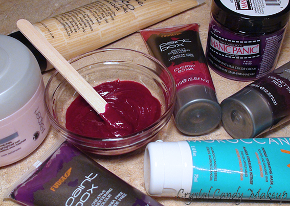 Do It Yourself Tinted Treatment Red Hair Manic Panic Fudge Paintbox Hair Colour