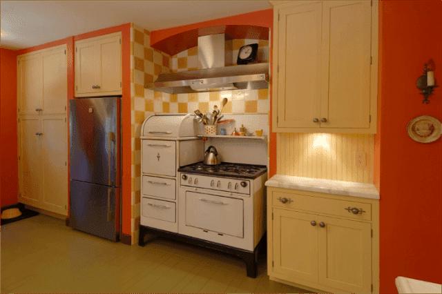 Cocinas con paredes color naranja colores en casa - Cocinas color naranja ...