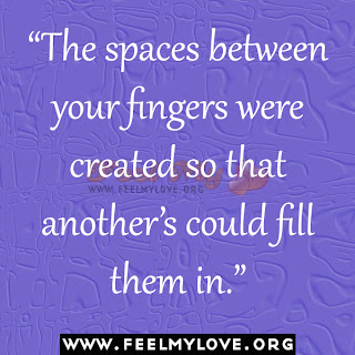 The spaces between your fingers were created