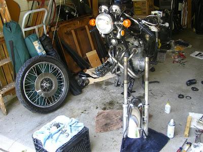 remove parts, honda cb500, motorcycle