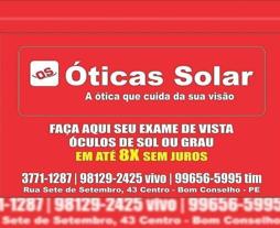 Ótica Solar - A Ótica que Cuida da sua Visão.