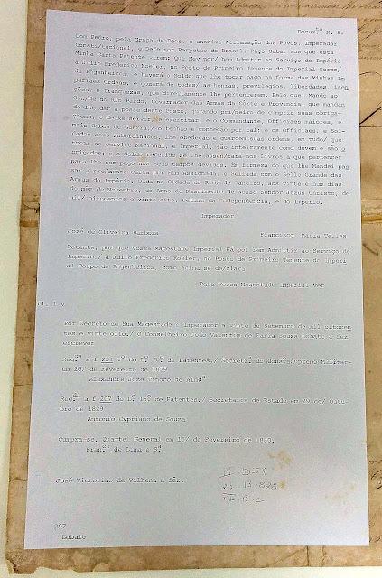 transcrição certificado de primeiro tenente de koeler