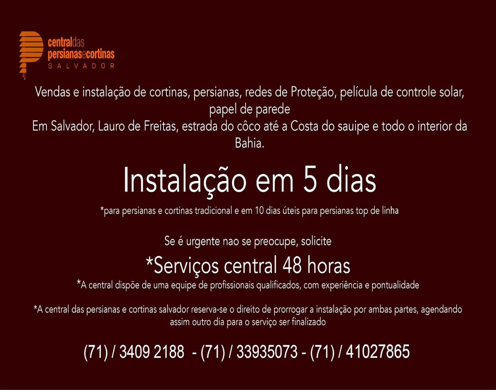 Cortinas e persianas em Salvador e em todo interior da Bahia