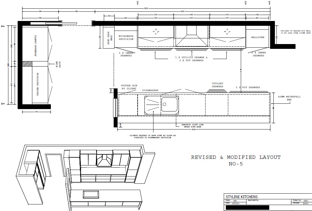 Plan For Kitchen