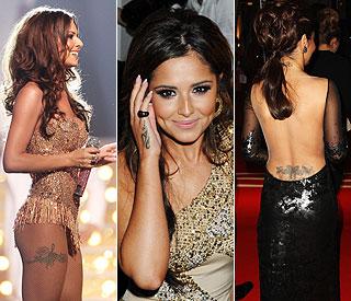 Cheryl Cole Tattoo Back 2013