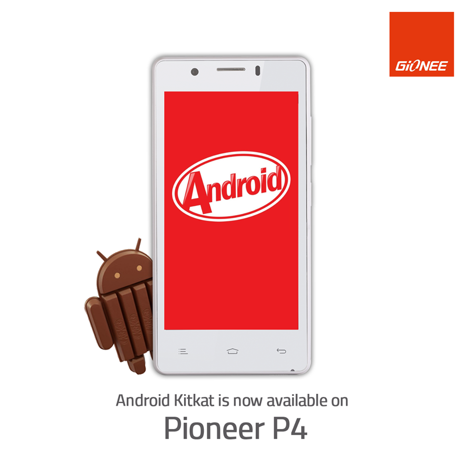Gionee Pioneer P4 Software Update