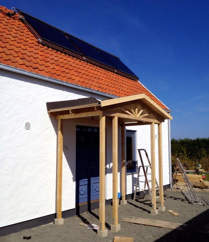 Villa Natura ekologiskt lågenergihus Österlen farstukvist Organowood
