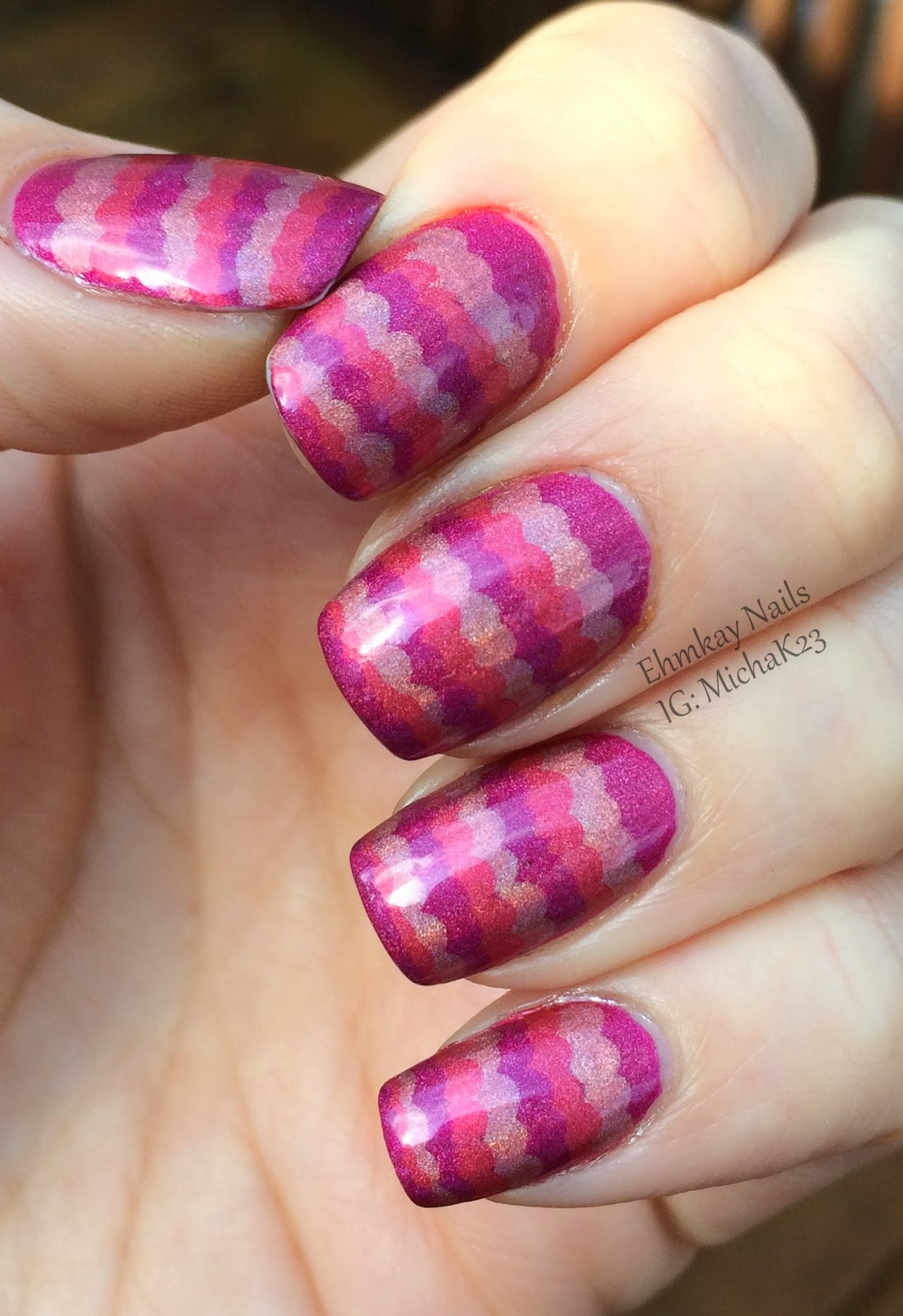 ehmkay nails: China Glaze OMG Holographic Ruffle Nail Art