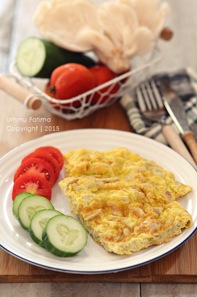 Simply Cooking and Baking: Omelet Jamur Tiram