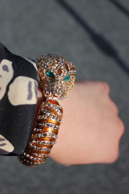 Forever 21 Tiger Cuff Bracelet