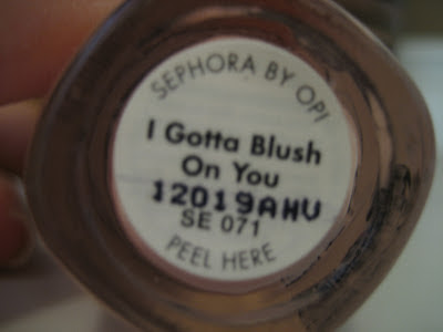 Sephora by opi nail polish I gotta blush on you