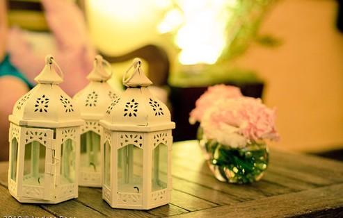 decoração com gaiolas delicadas