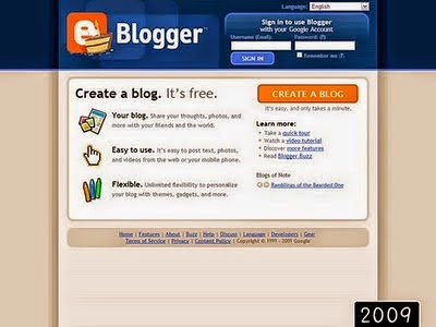 2009 yılında blogger