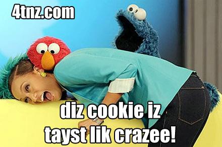 Cookie Monster Eating Cookies Meme