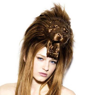 gaya rambut aneh