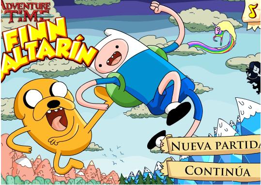 Juego Fin Saltarin Hora de Aventura Online Cartoon Network