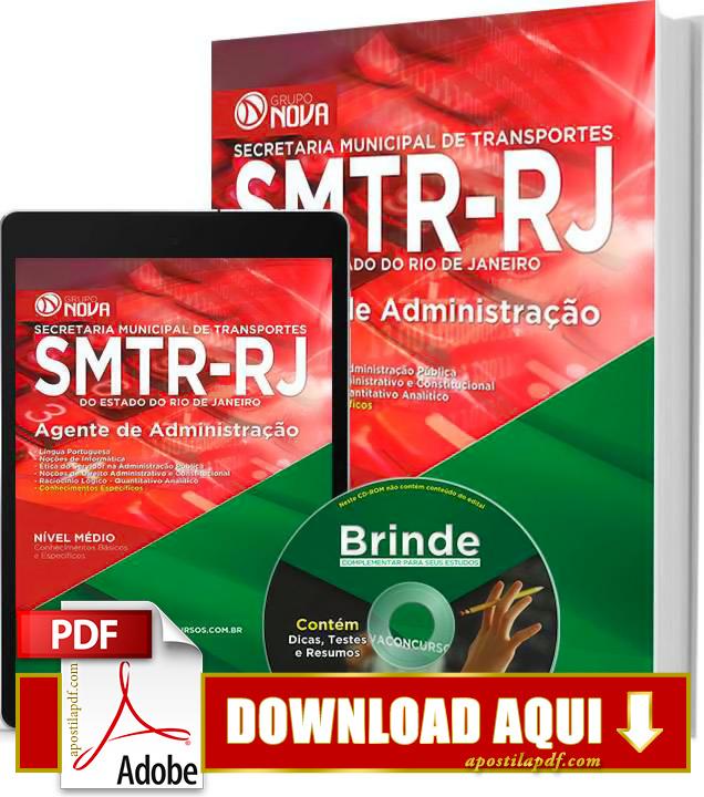 Apostila SMTR RJ 2015 PDF Download Grátis Agente de Administração