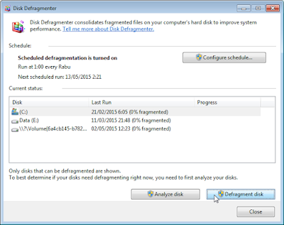 Tata ulang sistem windows dengan Disk Defragment