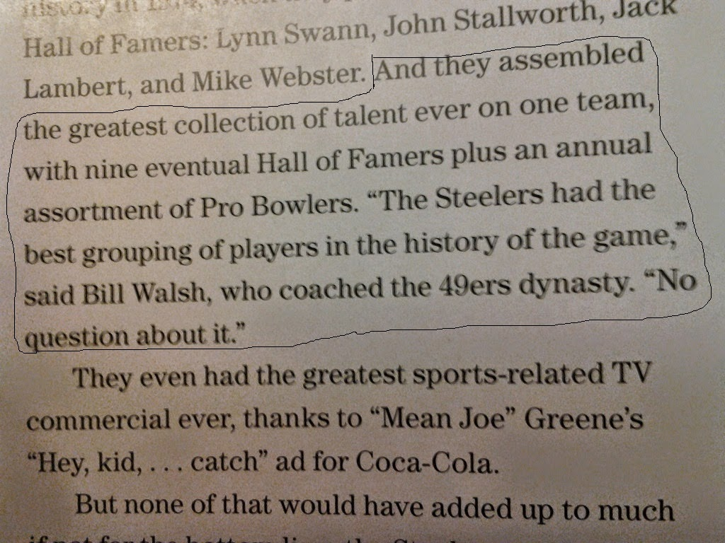 Bill Walsh Says Steelers Of The 70's Were The Best Ever