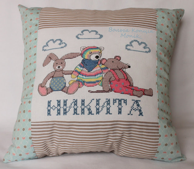 Метрика-подушка своими руками