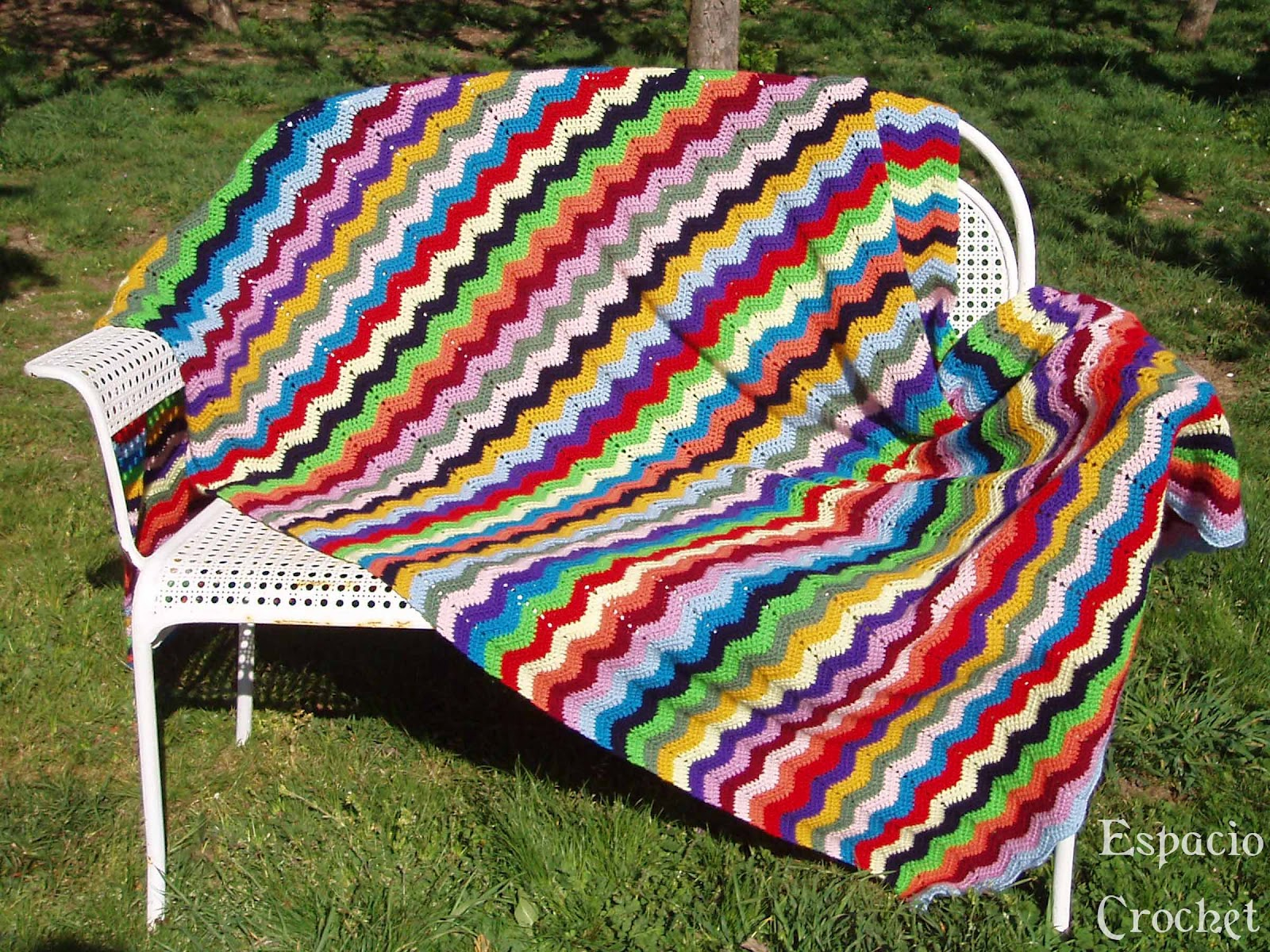 Manta De Crochet Facil - Diseno De Interiores - Publum.com