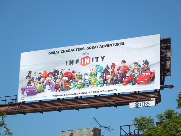 Disney Infinity game billboard