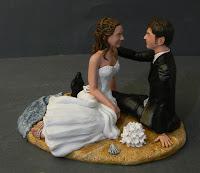 sposini cake topper milano statuine artistiche per torta nuziale orme magiche