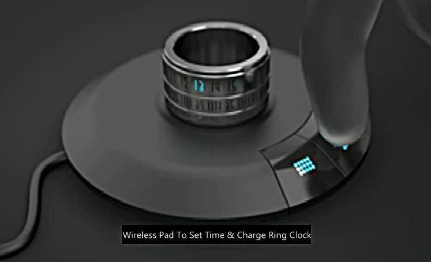 ring watch ring clock wireless charging pad