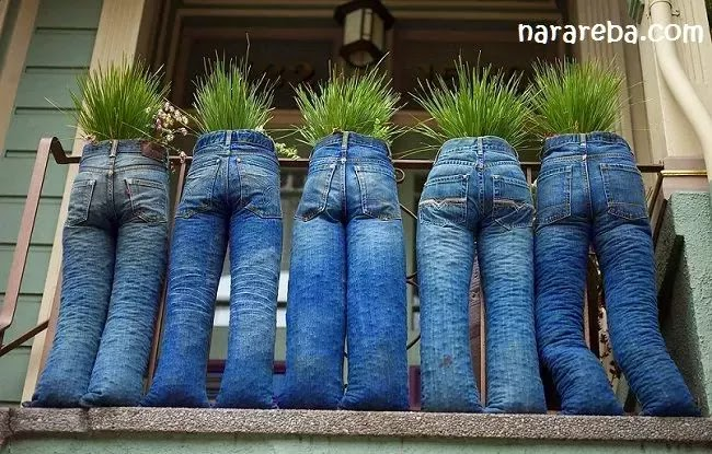 Memanfaatkan Jeans Bekas Pakai