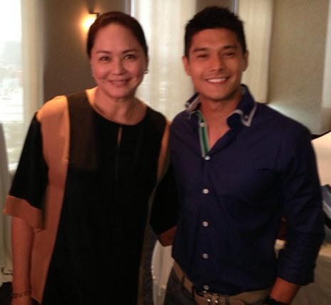 JC de Vera with ABS-CBN President and CEO Charo Santos-Concio