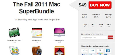 The Fall 2011 Mac SuperBundle für 49 Dollar statt 365 Dollar