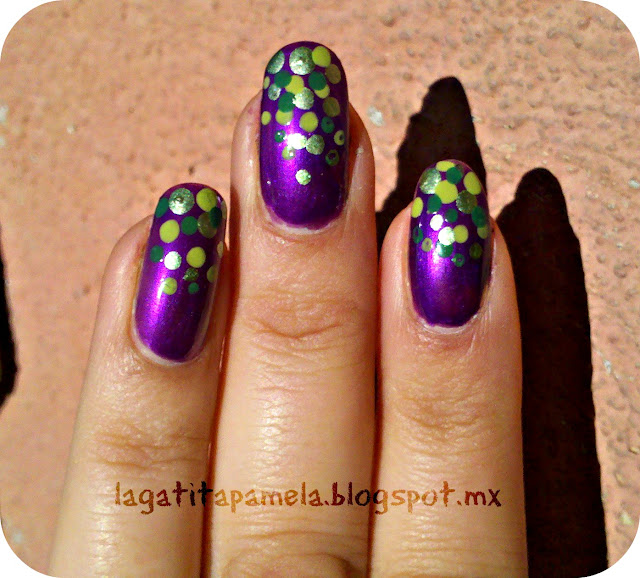 green and purple dotticure