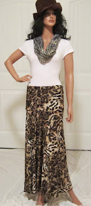 Animal Print Maxi with golden swirls