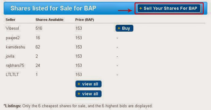 MTV -  Share listed for sale for BAP