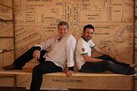 Dan Gordon and Michael Condron, actors in The Boat Factory